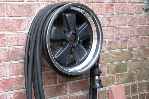 Hose Reel Made Of Car Wheel