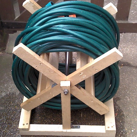 Wooden Hose Reel