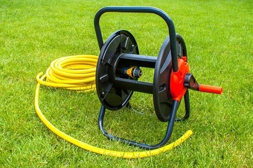 Hose Reel On The Grass
