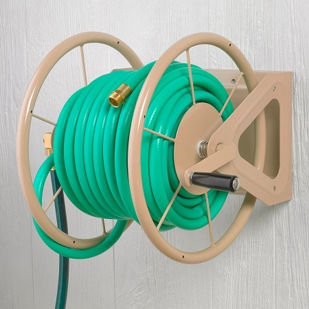 Liberty Garden Products 3-In-1 Garden Hose Reel on The Wall