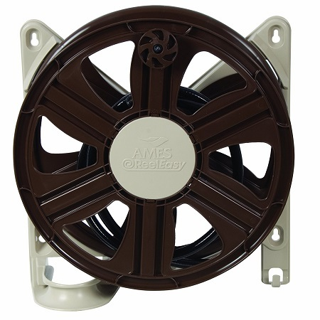 NeverLeak Side Mount Hose Reel With 100-Feet Hose Capaci On White Background